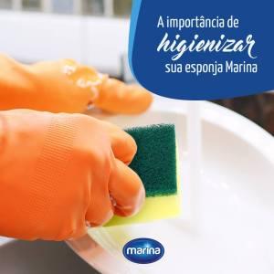 A importância de higienizar sua esponja Marina